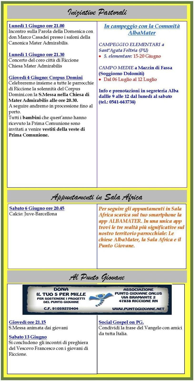 Newsletter 29-05-2015