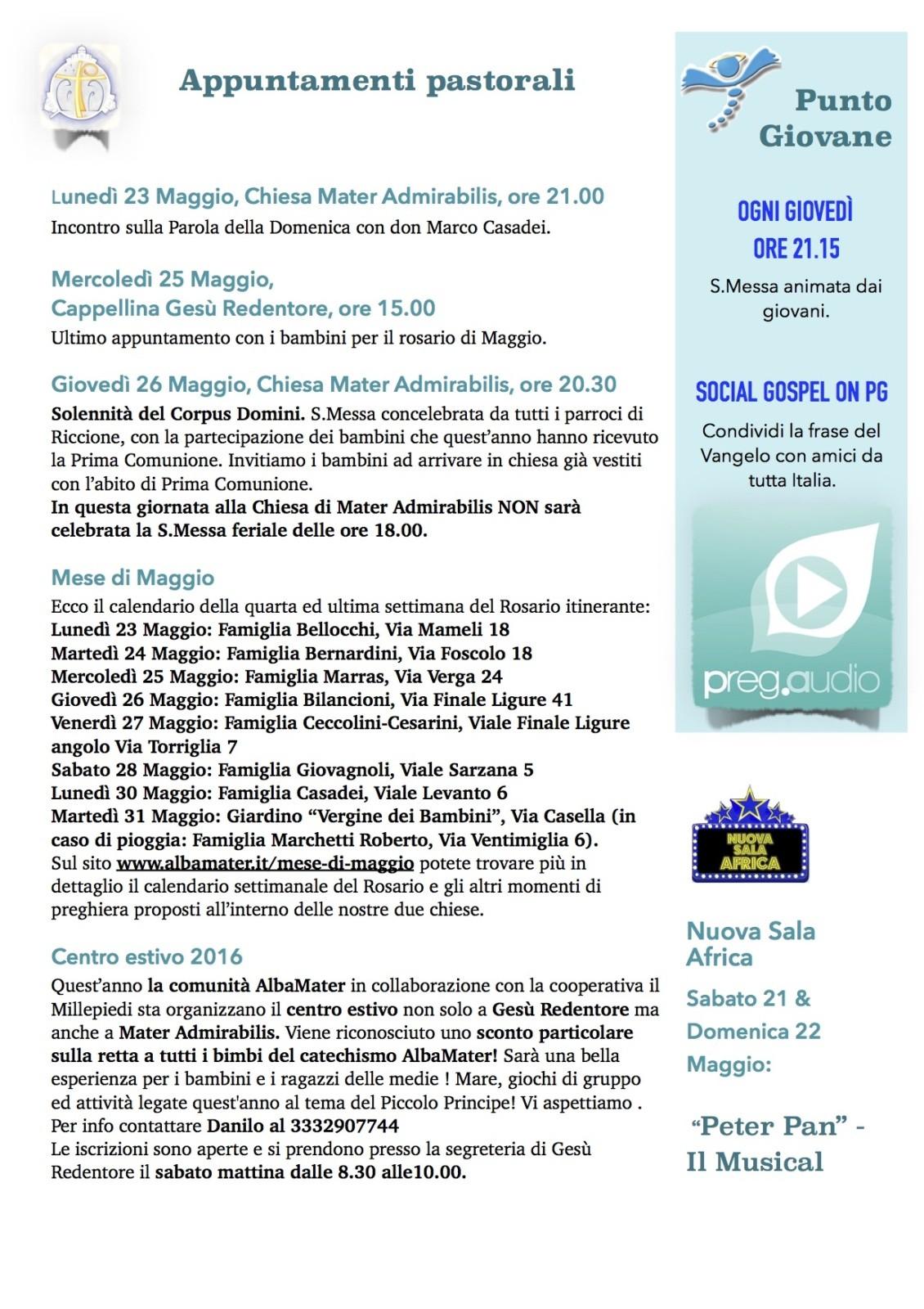 Newsletter 21 Maggio