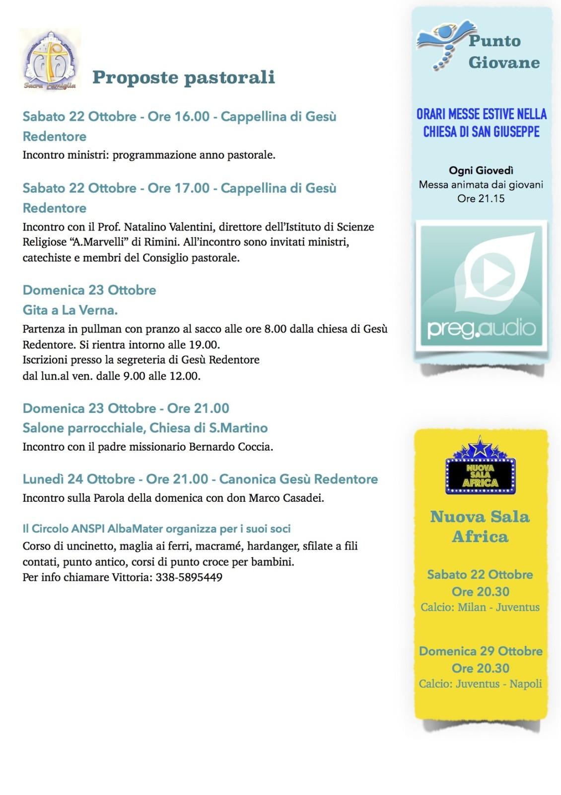 Newsletter 22 Ottobre